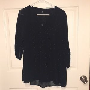 Black 3/4ths Sleeve Blouse